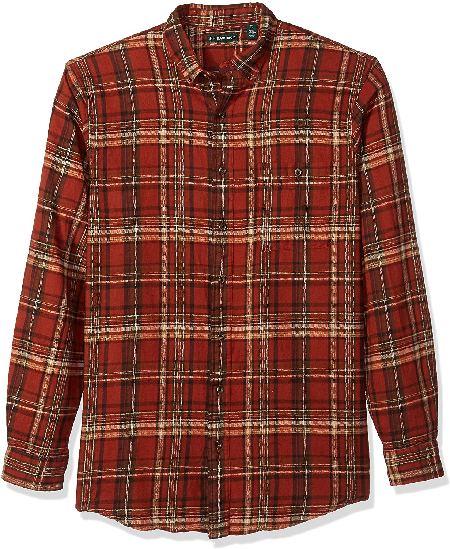 G.H. Bass & Co. Men's Big and Tall Fireside Flannels Long Sleeve Button Down Shirt
