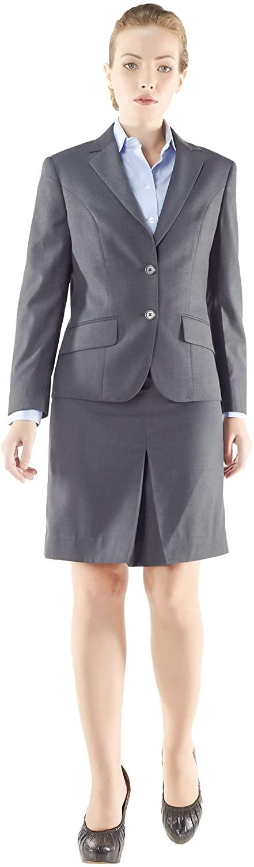 My Custom Tailor Womens Skirt Suits Style no.15103 Dark Slate Grey Superfine 150s Italian Wool and Cashmere Gabardine
