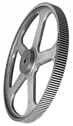Ametric 60L100 Cast Iron ANSI Timing Pulley no Flange, 60 Teeth, 0.5625 Inch +/-1/16 Pilot Bore (d), 7.13 Inch Outside Diameter (De), 7.16 Inch Pitch Diameter (Dp), 1.25 Face Width (F), (Ametric 1-081)