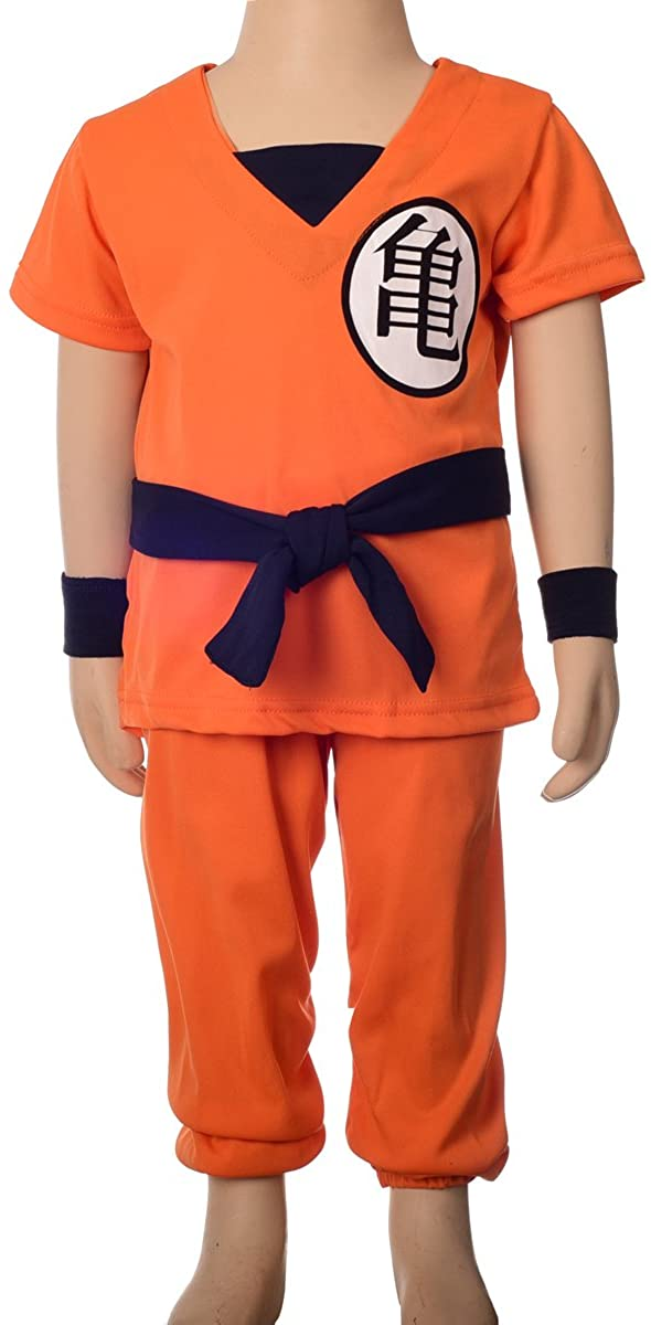 Dressy Daisy Boys Dragon Ball Son Goku Fancy Costumes Set Outfit Halloween Party Size 2-8