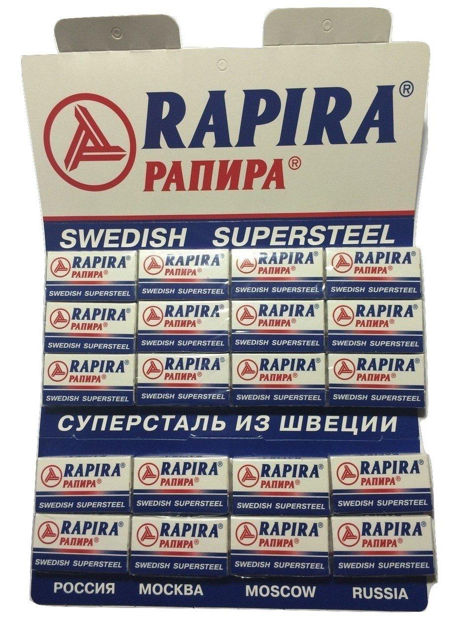 100 Rapira Swedish Super Steel Razor Blades