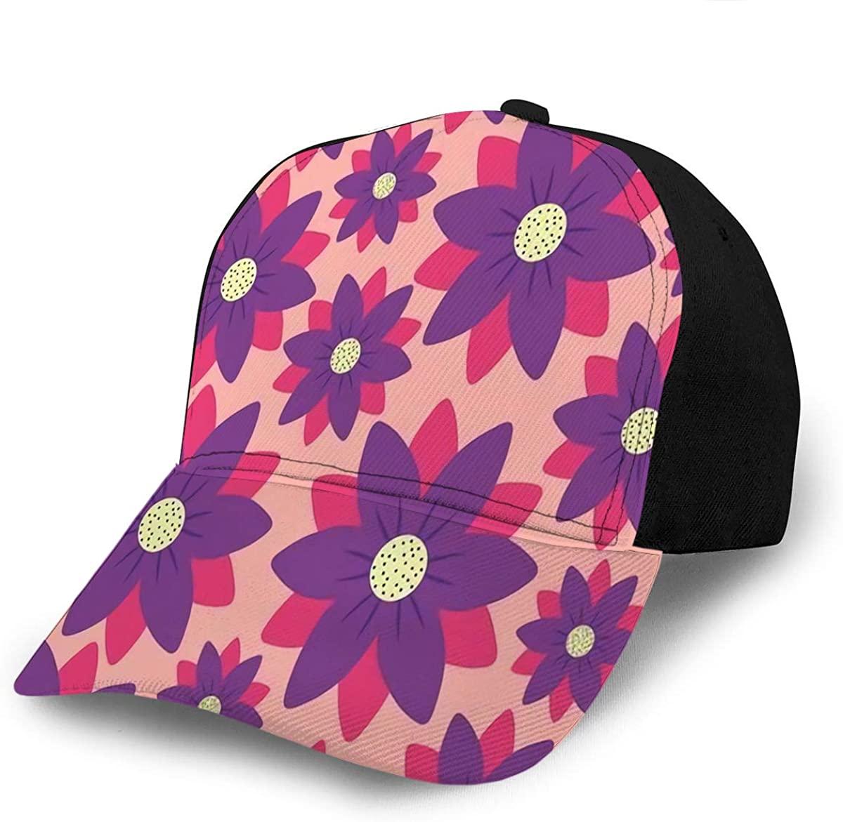 YILINGER Baseball Caps Hats Beautiful Flowers Colorful Design Cowboy Caps