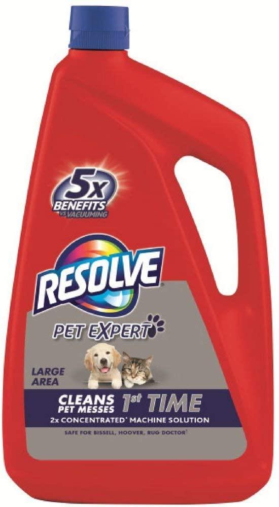 Resolve Pet Carpet Steam Cleaner Solution, 288 fl oz (6 Bottles x 48 oz), 2X Concentrate (Pack of 3)
