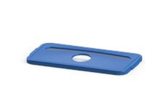 O'Cedar Commercial 6826-1 Lid w/Slot for 23 gal. MaxiRough Slim Container, Blue (Pack of 4)