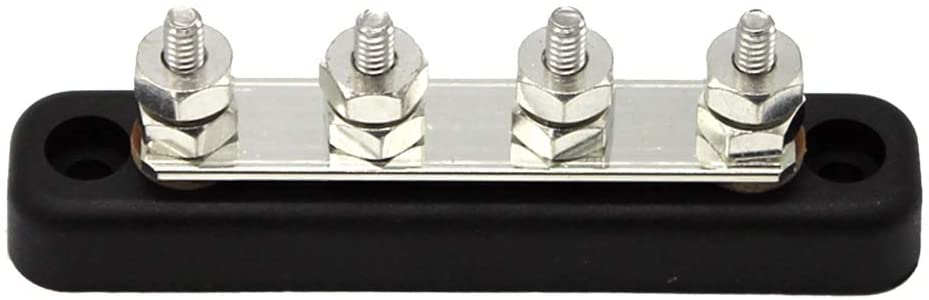 HaoYueDa 4 Positions Single Row AC Max 300V DC Max 48V Terminal Strip Blocks Electric Cable Connector