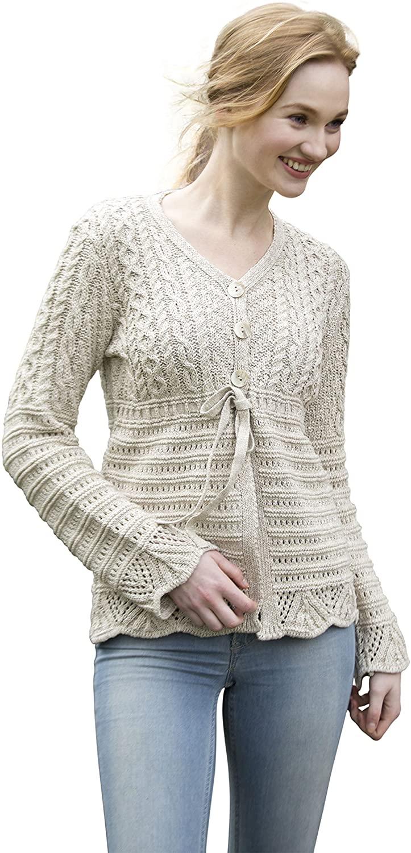 V-Neck Irish Button Up Linen/Cotton Cardigan
