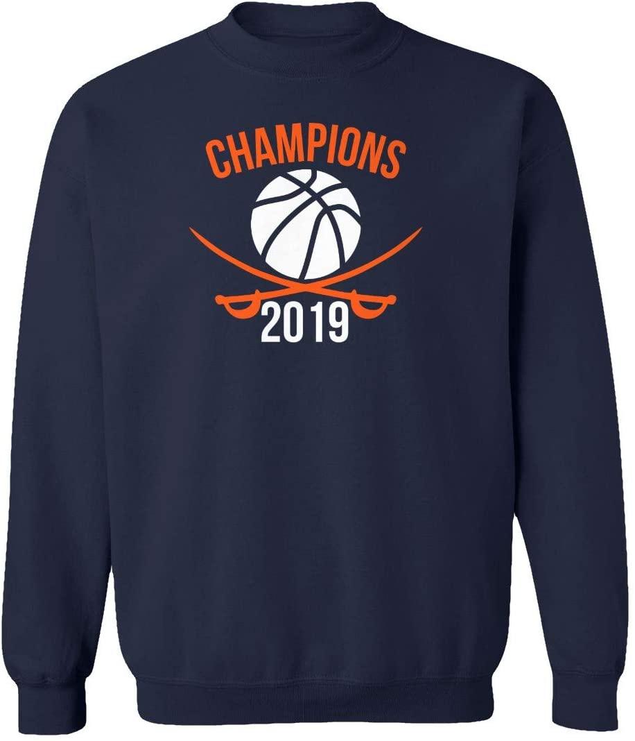 SMARTZONE Virginia Fans 2019 March Madness Champions Champs Basketball Unisex Youth Sweatshirt Crewneck Sweater (Navy, Youth Medium)