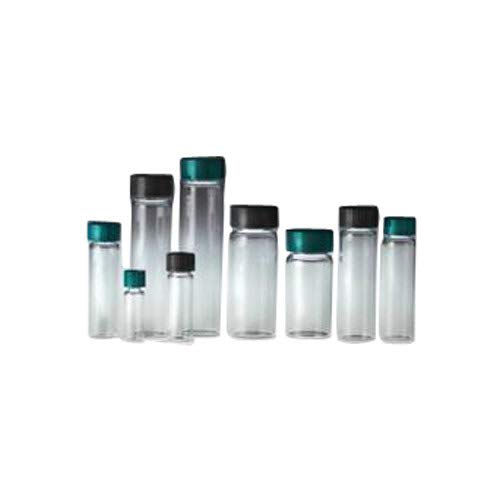 Qorpak GLC-07879 Clear Borosilicate Vial with 24-400 Black Phenolic Rubber Lined Cap, 27.5 mm x 140 mm Size, 60 mL Capacity (Pack of 72)