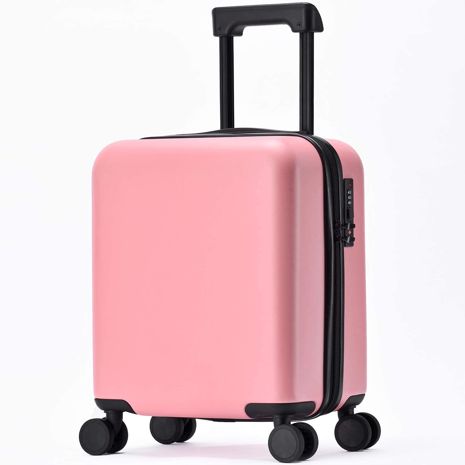 GURHODVO Kids Luggage with Wheels Carry On Children Rolling Suitcase for Travel Pure Color (pink)