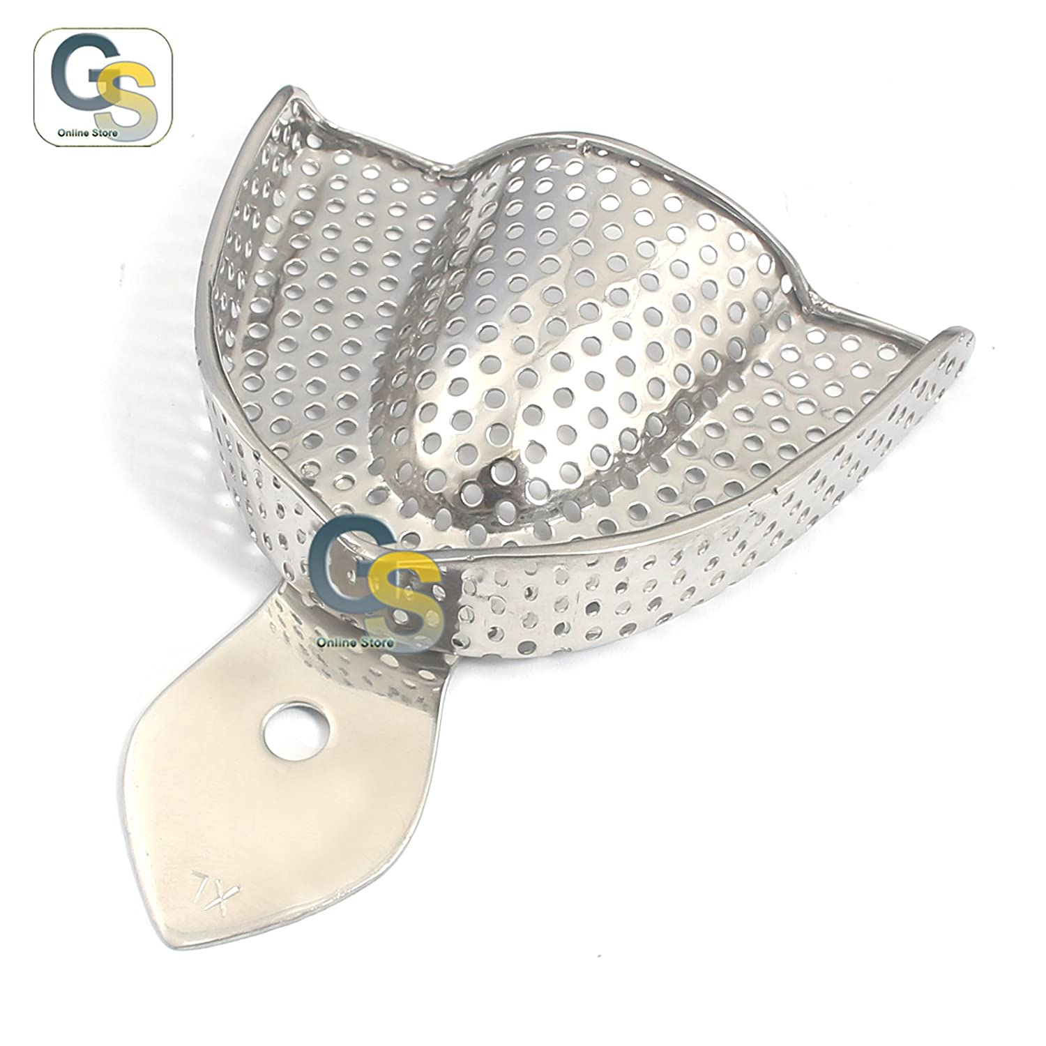 G.S Steel Impression Trays Upper X-Large, Perforated - Best Quality