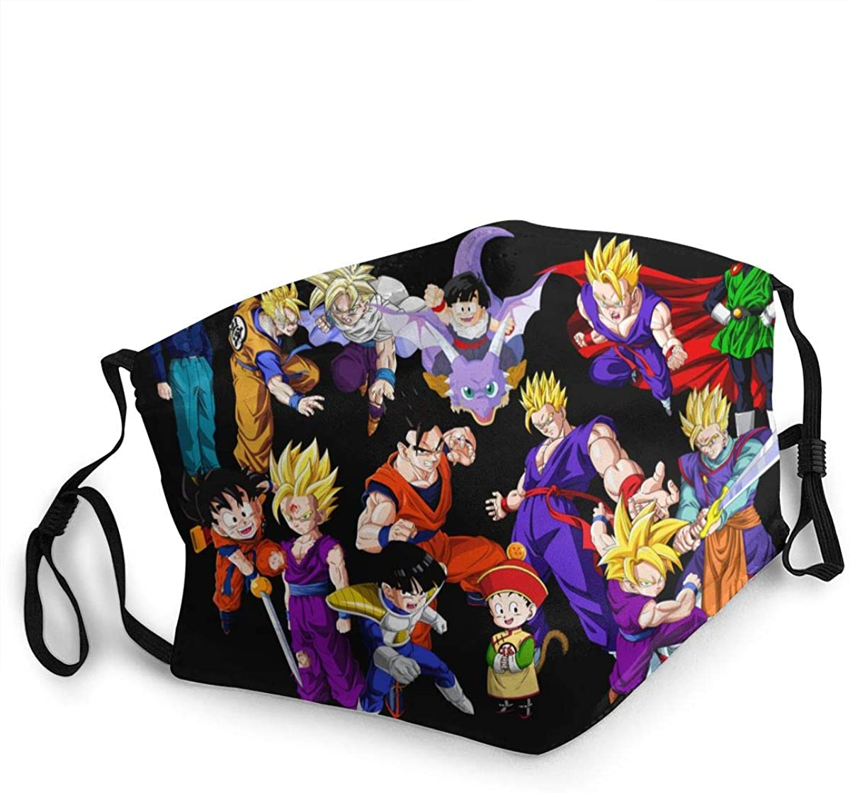 Dragon Ball Z Washable Reusable Unisex Breathable Adult Dust Face Mouth Cloth Balaclava (Multiple Outfits)