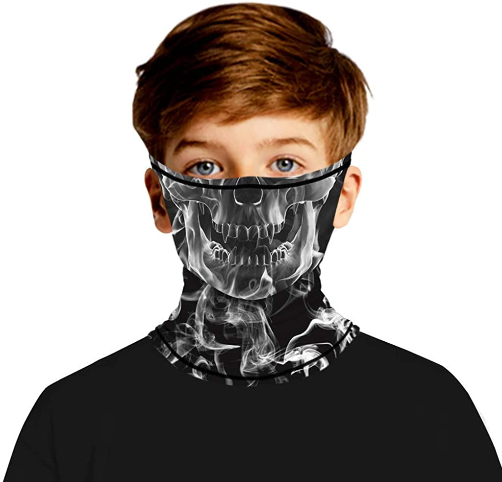 Kids Face Mask Print Seamless Ear Mask Sports Scarf Neck Tube Face Mask