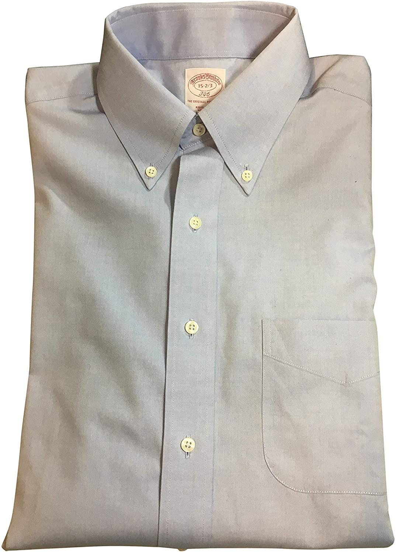 Brooks Brothers Blue Cotton Dress Shirt Size 15-32/33