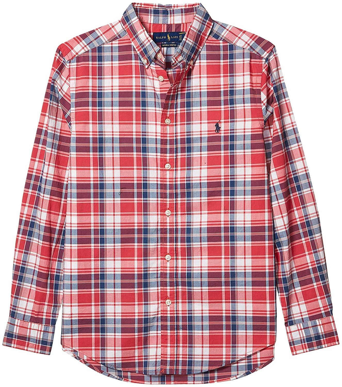 Polo Ralph Lauren Kids Boy's Plaid Cotton Poplin Shirt (Big Kids)