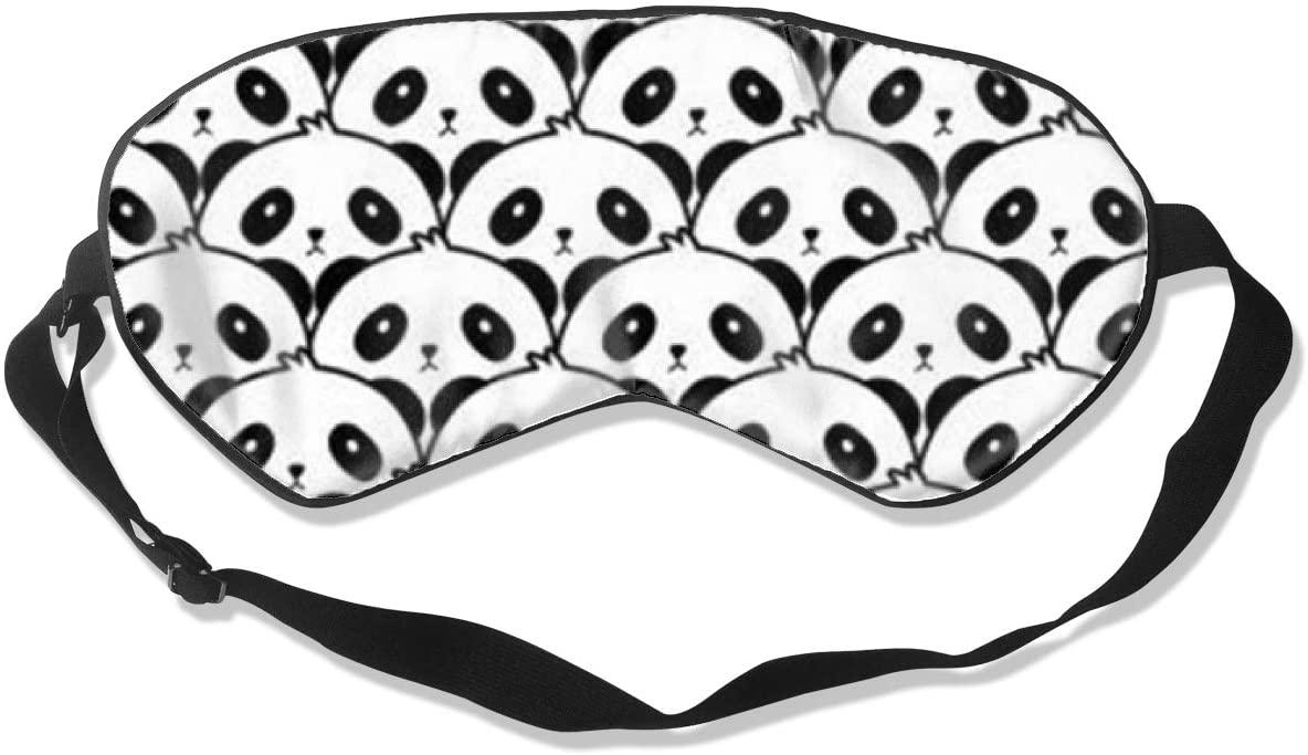 Sleep Eye Mask For Men Women,Pandas Soft Comfort Eye Shade Cover For Sleeping