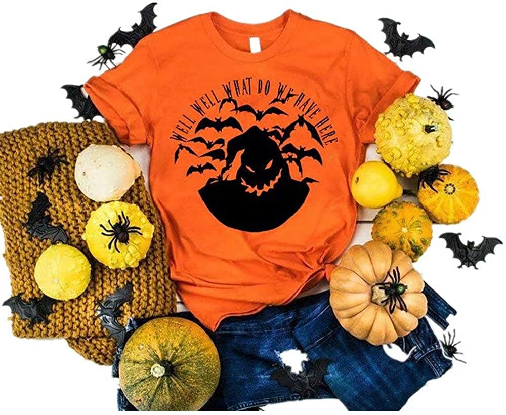 Well Well What Do We Have Here Halloween T Shirt Women Nightmare Before Christmas Moon Tee Top