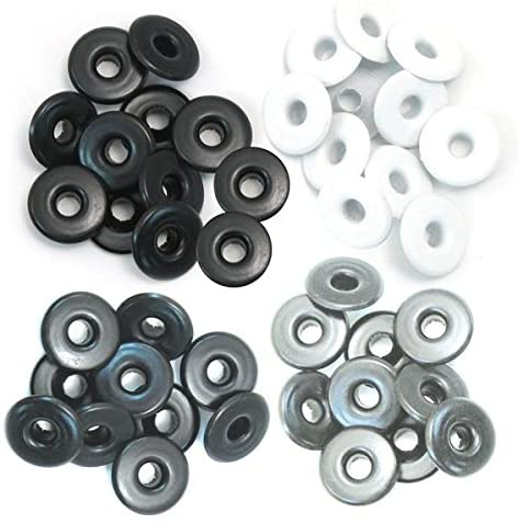 We R Memory Keepers 0633356415947 Eyelets & Washers Crop-A-Dile-Wide-Gray (40 Pieces), Grey