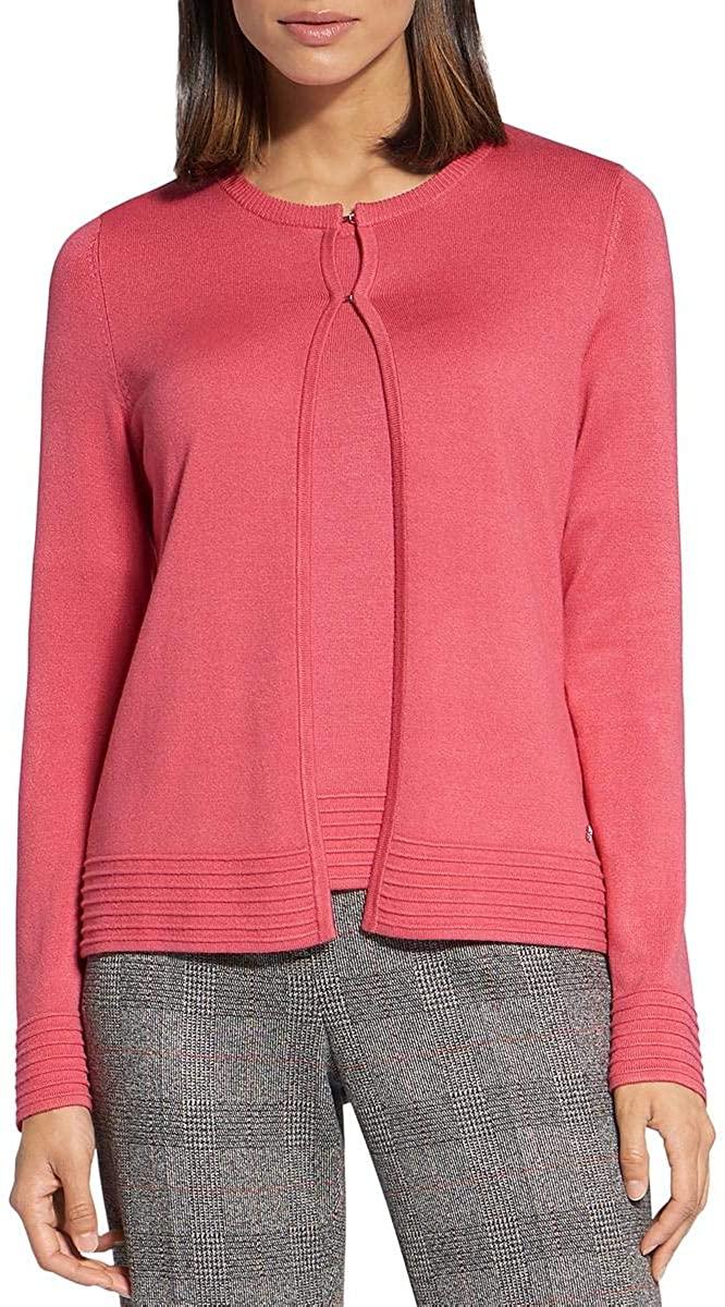 Basler Womens Plus Knit Button-Down Cardigan Sweater