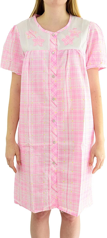 Ezi Women's 'Daisy' Cotton Blend House Dress
