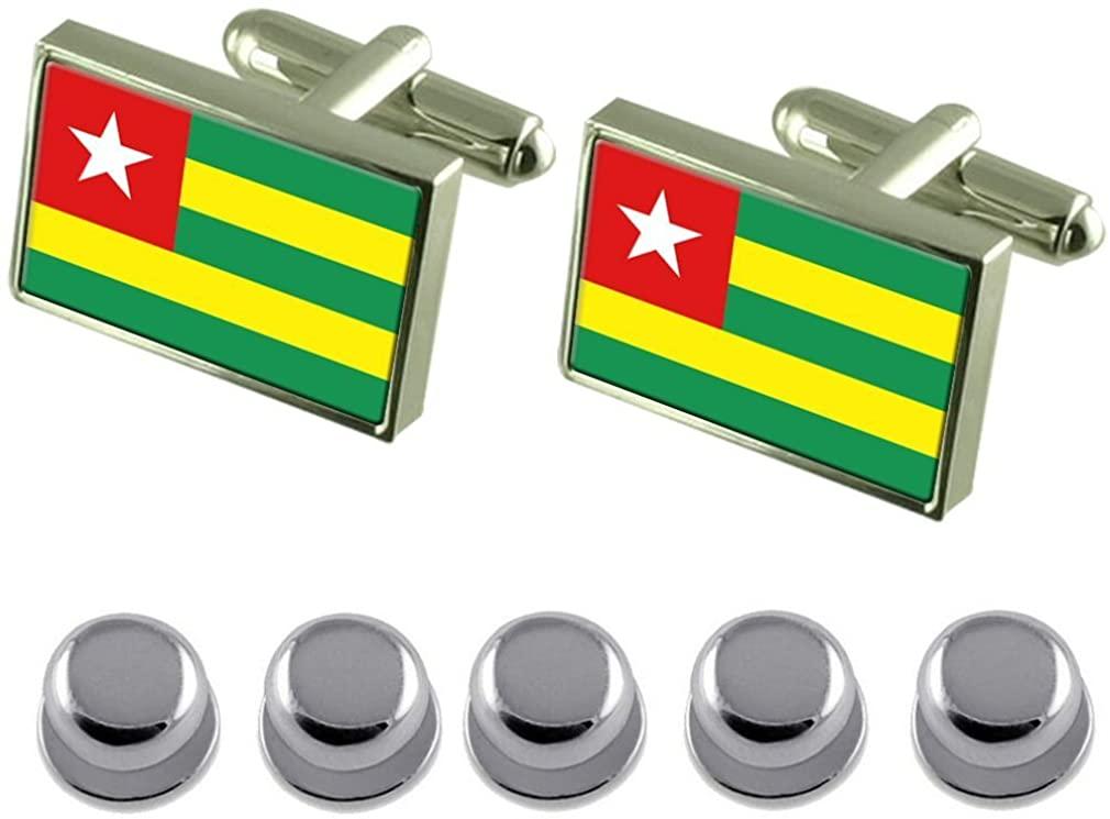 Select Gifts Shirt Dress Studs Togo Flag Cufflinks