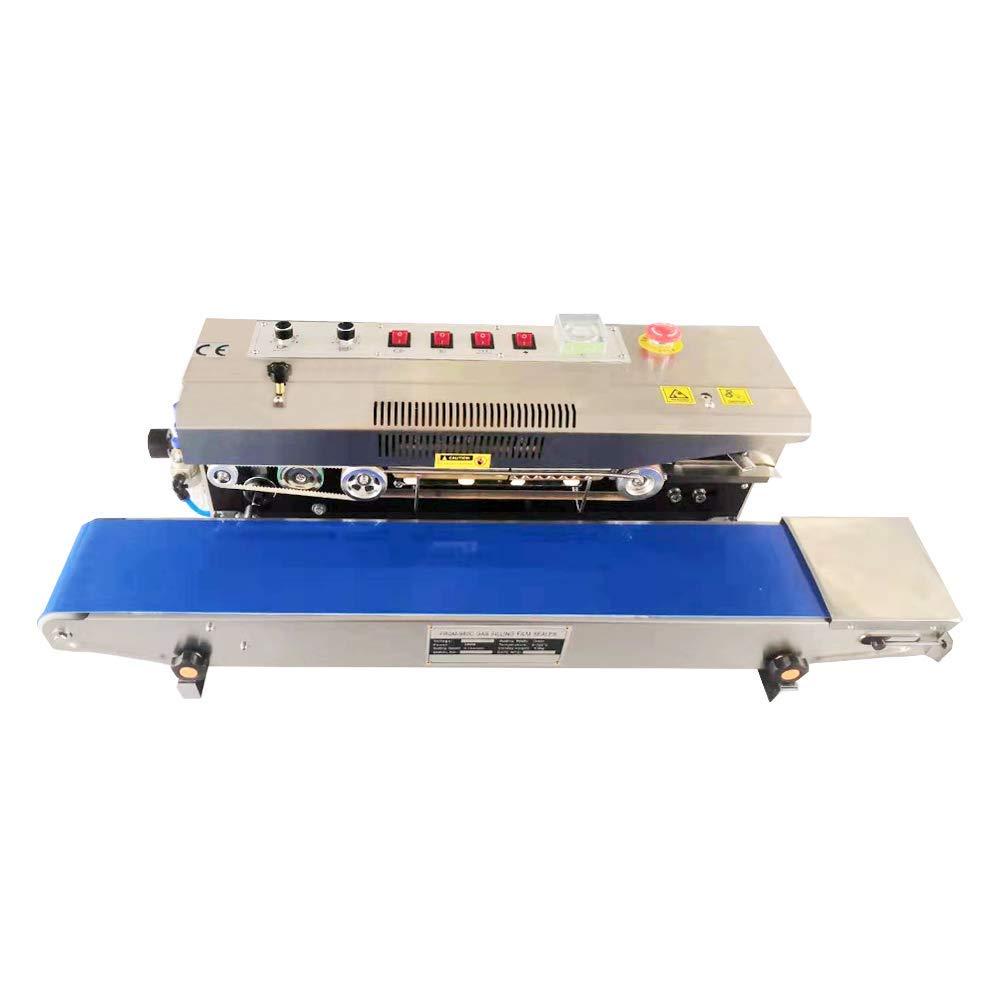 KUNHEWUHUA Automatic Continuous Film Sealing Machine Band Sealer Horizontal Auto Impulse Sealer 220V/50Hz