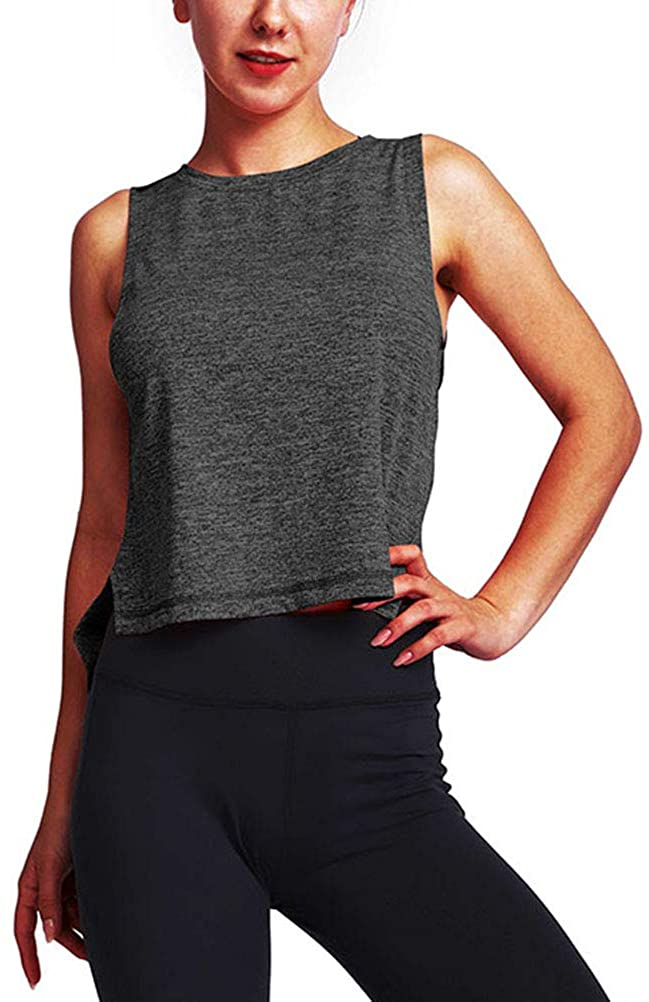 Mippo Workout Tops for Women Athletic Tank Tops Muscle Yoga Shirts Gym Clothes