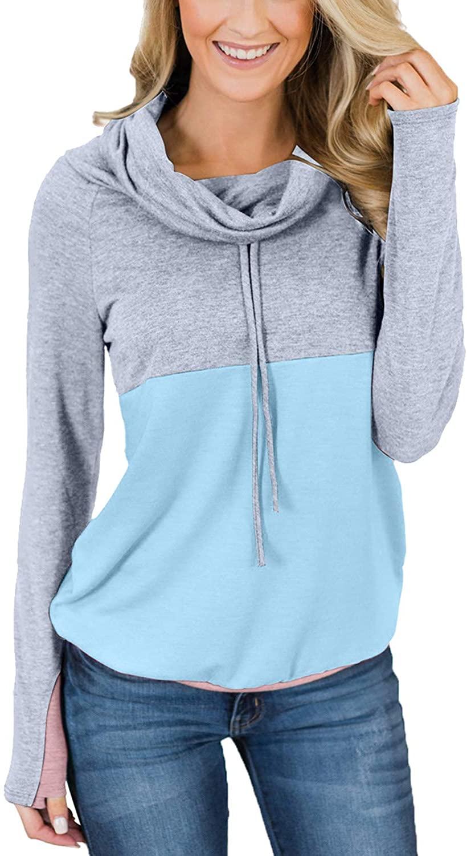 Cutiefox Womens Tie Dye Printed Loose Pullover Hoodie Sweatshirts