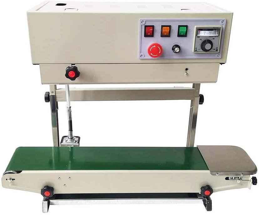 INTBUYING 110V Auto Vertical Frame Continuous Band Bag Sealer Sealing Machine PVC Membrane Film