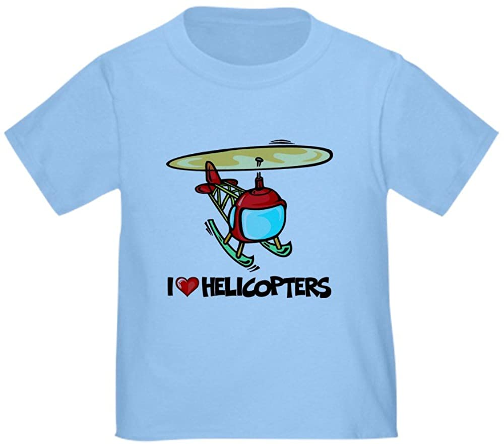 CafePress I Love Helicopter Toddler T-Shirt Toddler Tee