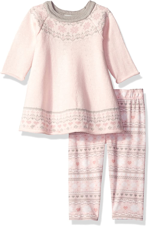 Blueberi Boulevard Baby Girls Sweater Printed Legging Set