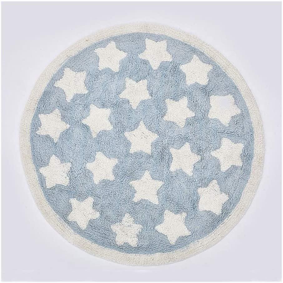 ZRSJ Senior Care Baby Play Mat, Blue Stars Play Mat Baby, Decoration Play Mat for Baby for Bedroom Living Room Games Room Custom Game (Color : Blue)