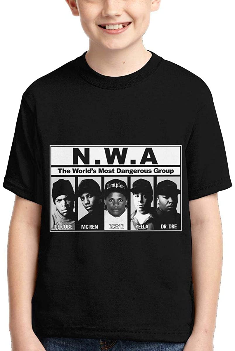Hxuedan Boys,Girls,Youth N W A Straight Outta Compton Tee
