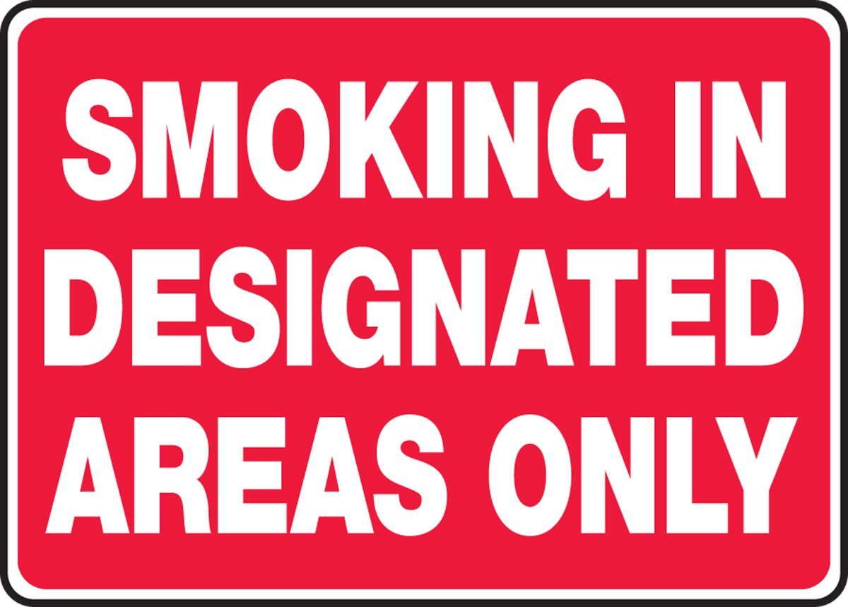 SMOKING IN DESIGNATED AREAS ONLY (3 Pack)