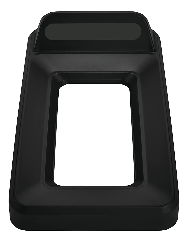 Rubbermaid Commercial Slim Jim Recycling Lid, Vertical, Open Top - Black, 2018253