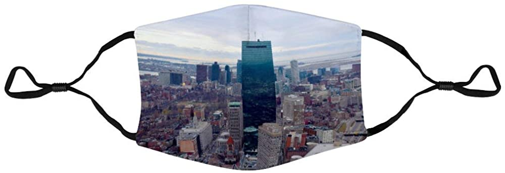 Face Protection Boston Massachusetts Boston Ma Boston Skyline Face Protection Unisex Adjustable Breathable Dustproof Mouth Cover