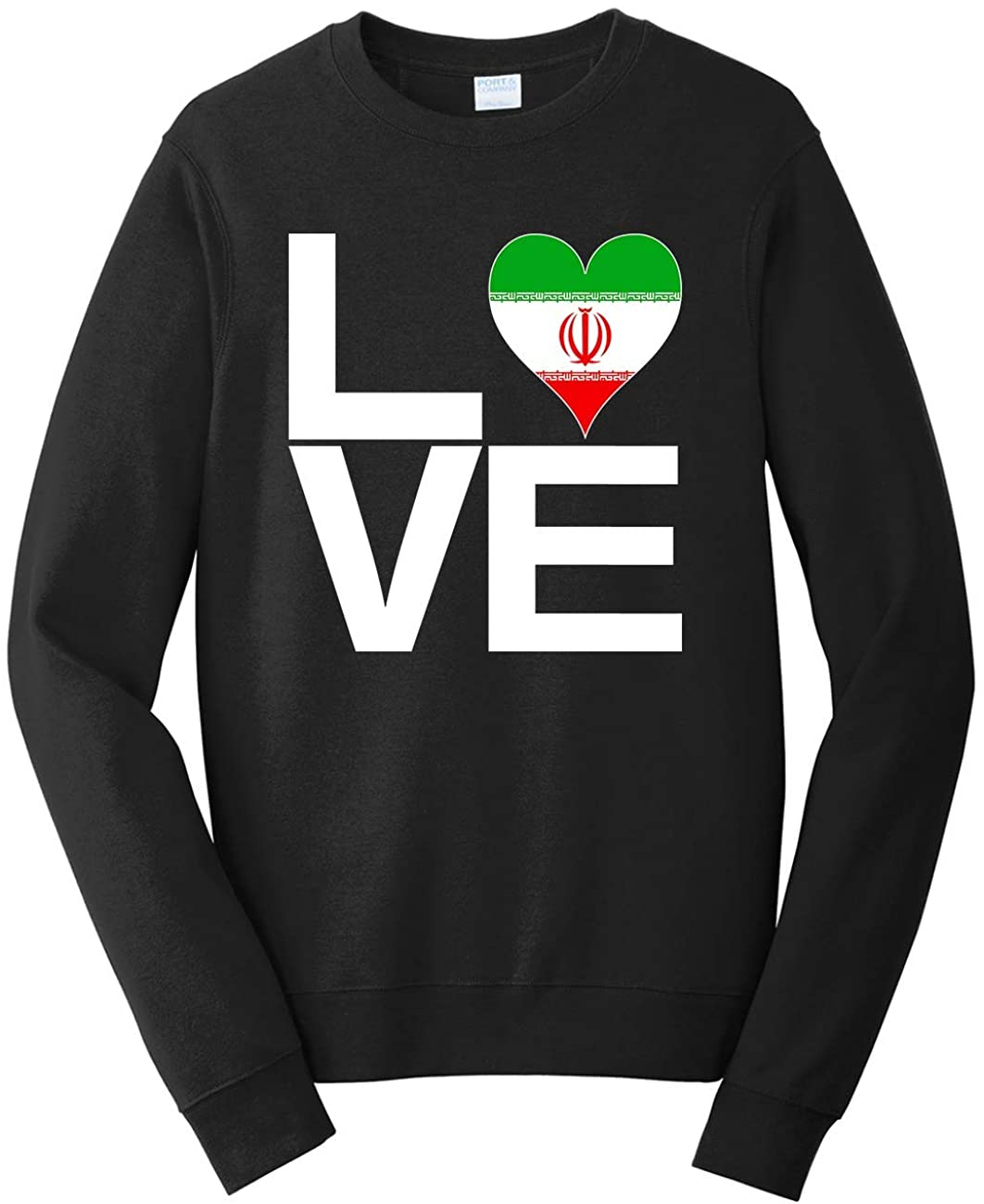 Tenacitee Unisex Love Block Iran Heart Sweatshirt