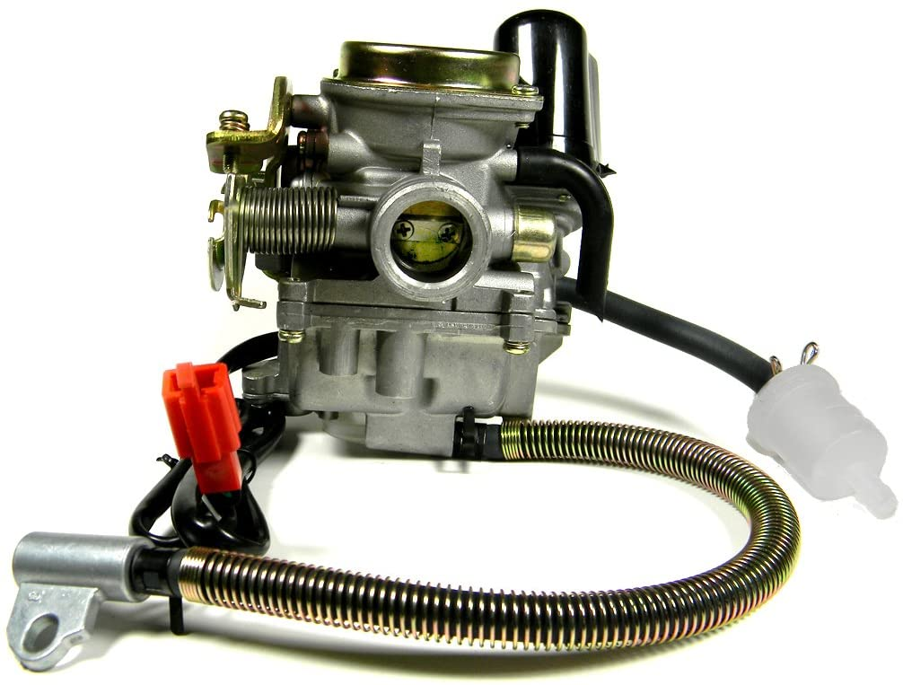 18mm intake manifold side carburetor for 4-stroke GY6 50CC Scooters/Mopeds/Go Karts