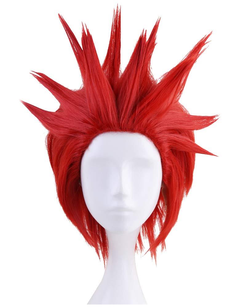 C-ZOFEK My Hero Academia Anime Kirishima Eijiro Cosplay Wig Red (red)
