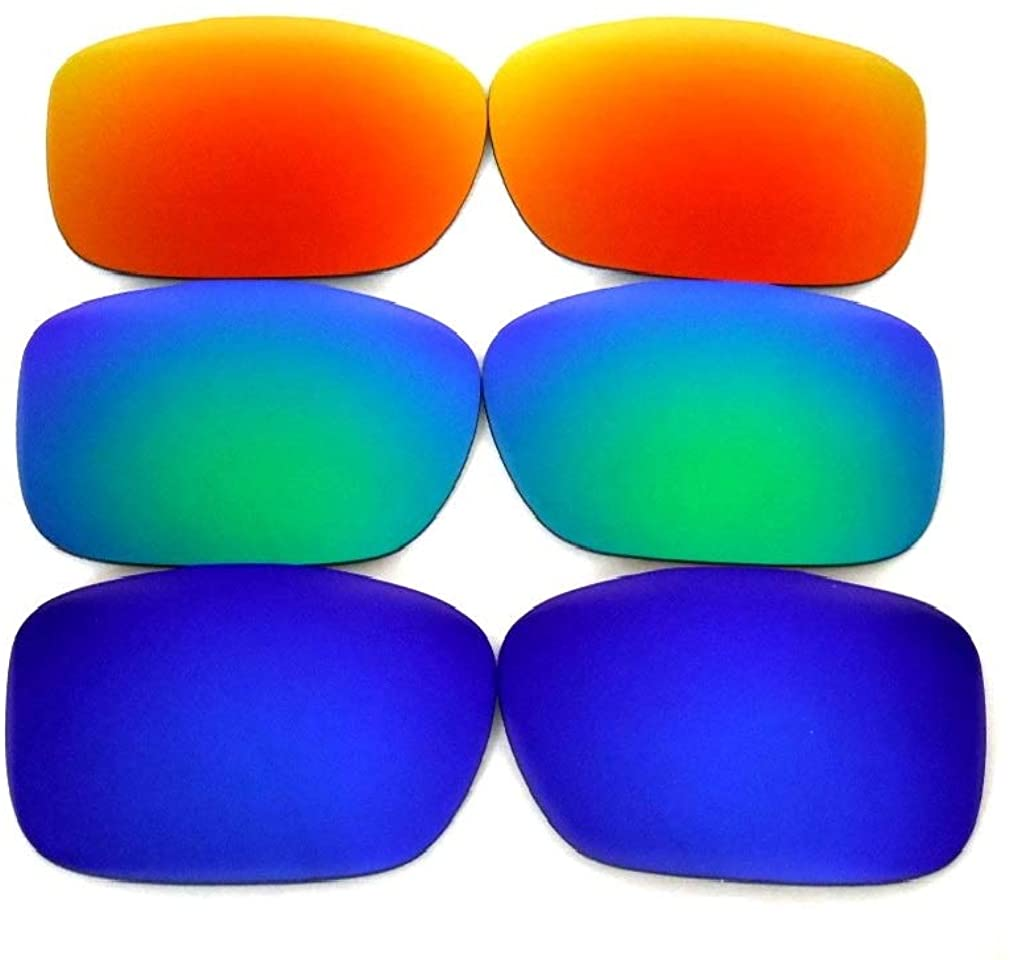 Galaxy Replacement Lenses For Oakley Twoface Blue&Green&Red Polarized 100% UVAB 3 Pairs
