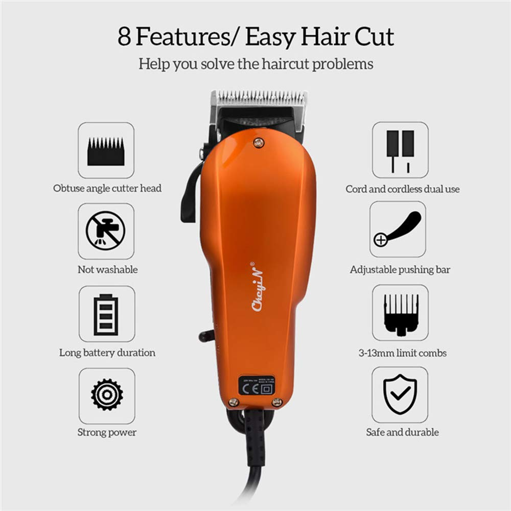 LUBANC Hair Clipper, High Power Mens Powerful Electric Hair Clipper Professional Hair Trimmer Barber Cutting Machine for Adult Baby Styling Tool