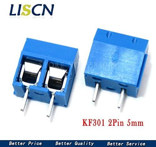 Davitu Terminals - 20PCS KF301-2P 5.08mm KF301 2 Pin Blue Connect PCB Terminal Screw Terminal Connector Splice connector