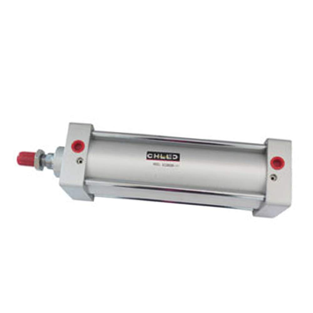 Woljay Pneumatic Air Cylinder SC 100 x 300 PT 1/2 Screwed Piston Rod Dual Action Bore: 100mm Stroke: 300mm