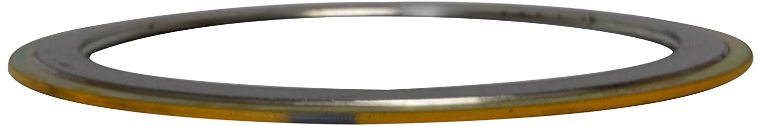 Sur-Seal, Inc. Teadit 90002500304GR900 Yellow Band with Gray Stripe Spiral Wound Gasket, High Temperature (Thermal Cycling) and/or Pressure Variations, 2-1/2 Pipe Size, 900# Class Flange, 304SS Windings with a Flexible Graphite Filler