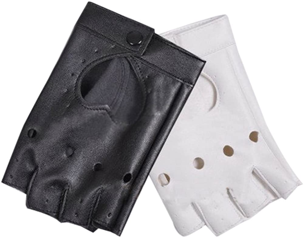 ROLECOS Monokuma Gloves PU Leather Gloves Anime Accessory White &Black CA570A