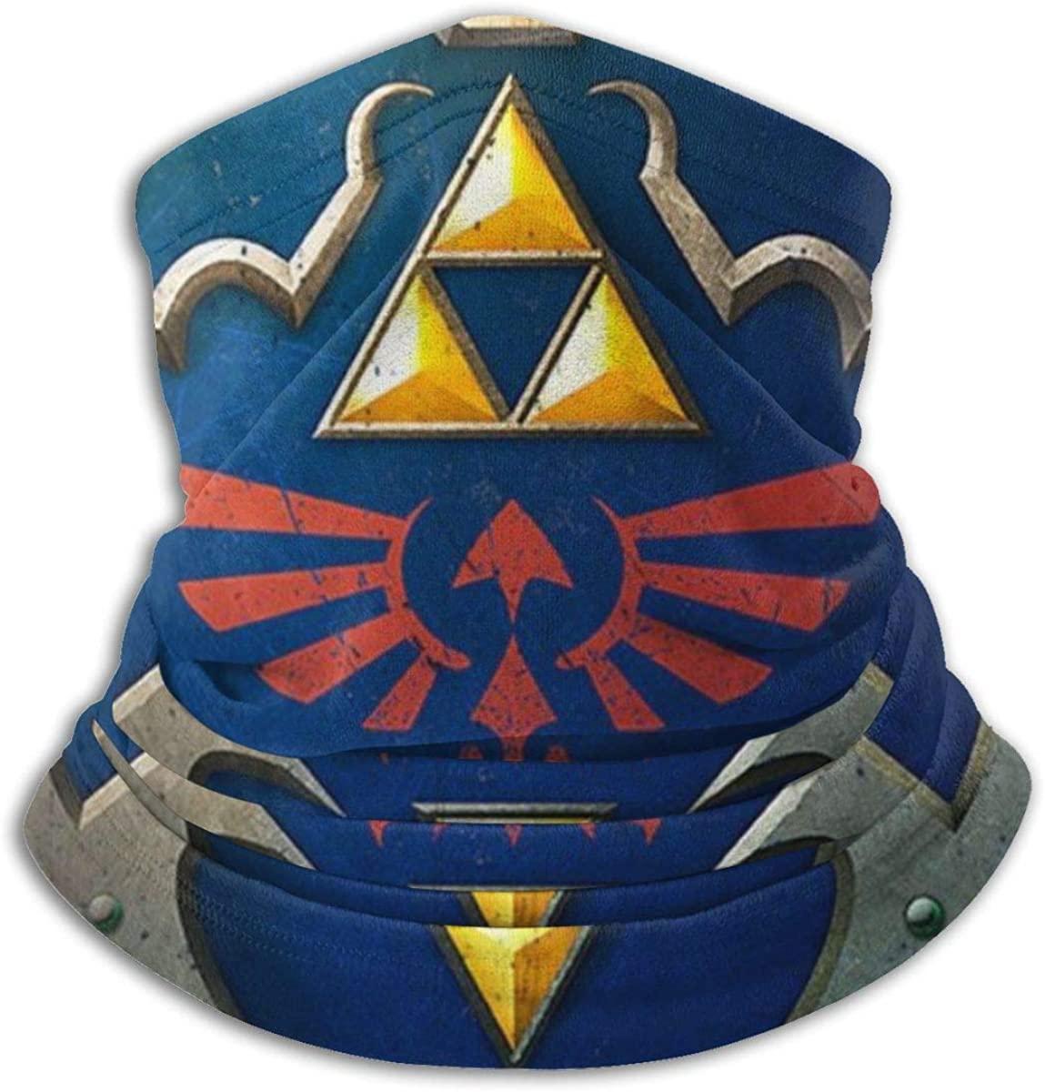 Hylian Shield Legend Of Zelda Triforce Face Mask Bandanas For Dust, Outdoors, Festivals, Sports