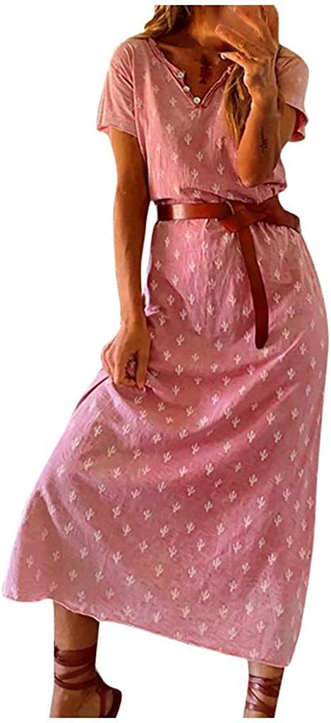 Adeliber Maternity Dresses Sexy Fashion Womens Tie-dye Print O-Neck Short Sleeve Ladies Long Dress Dresses