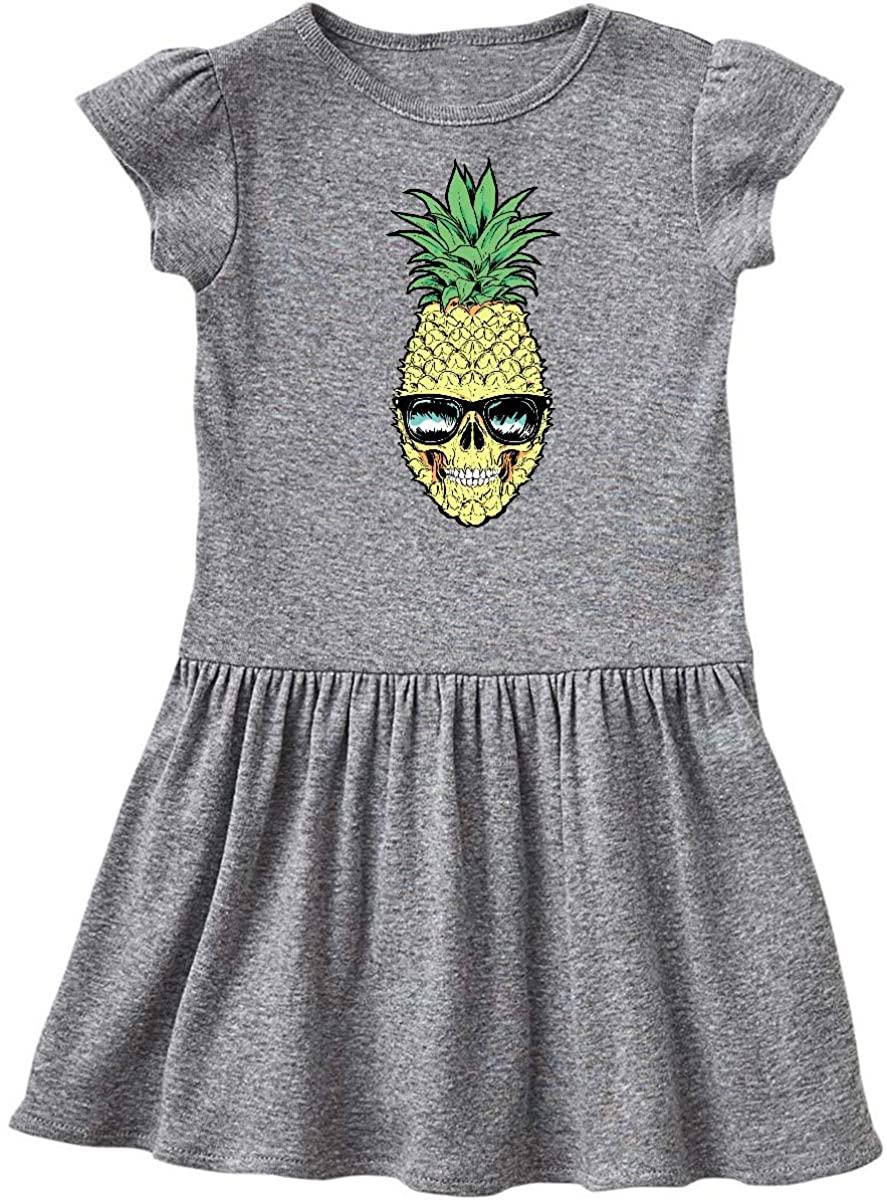 inktastic Pineapple Skull in Singlasses Toddler Dress