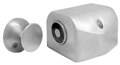 ABH 2600 Single Floor Mount Electromagnetic Door Holder (Brushed Aluminum)