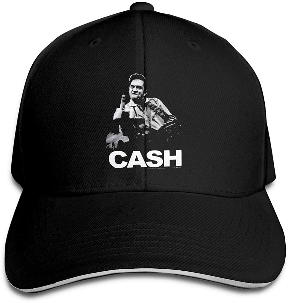 Johnny Cash Classic Baseball Cap Unisex Cotton Adjustable Hat for Kids Teens Adults