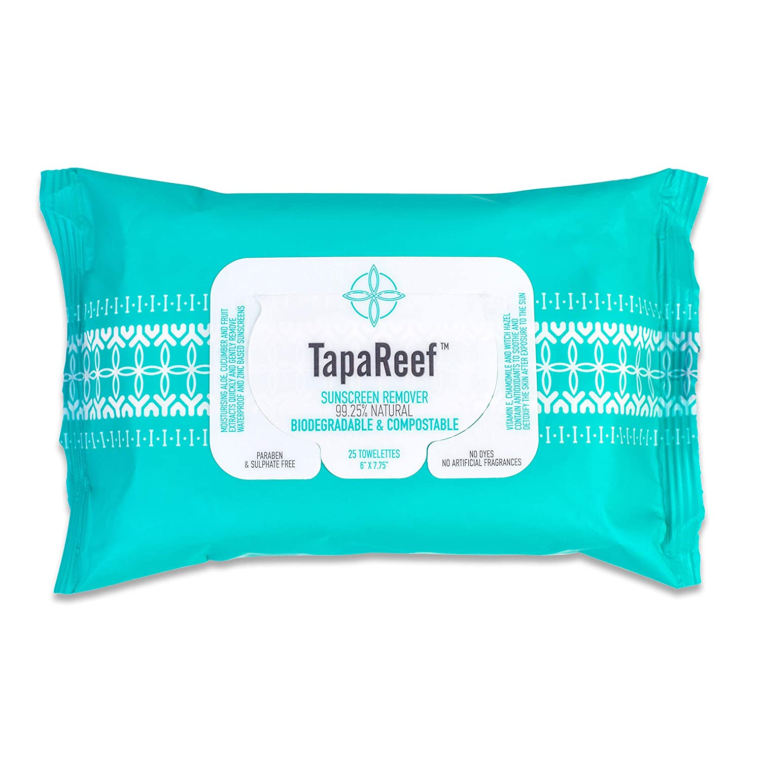 TapaReef Sunscreen Remover Wipes - 25 Count Pouch